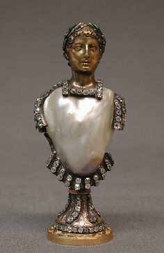 Seal Date: century Culture: British (?) Medium: Gold, pearl, diamonds, emeralds Dimensions: 3 x in. x cm) Classification: Metalwork-Gold and Platinum Nautilus, Ancient Jewelry, Antique Jewelry, Vintage Jewelry, Royal Jewels, Crown Jewels, Celtic, Sculpture, Baroque Pearls