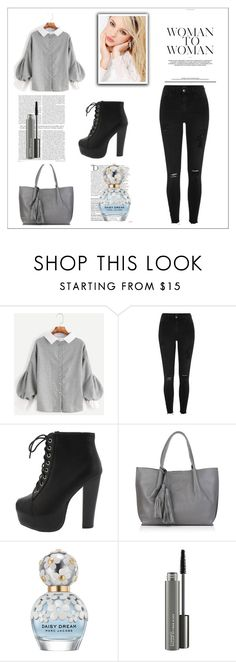 """""""MY CREATED"""" by mersy-123 ❤ liked on Polyvore featuring Silvana, River Island, Nadia Minkoff, Balmain, Marc Jacobs, MAC Cosmetics, shoes and bags"""