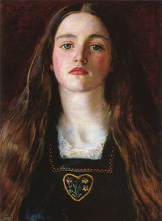 "porcelainfawns:    John Everett Millais, ""Sophy Gray,"" 1857"