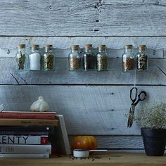 Hanging Spice Rack #WestElm - great idea for kitchens with limited counter space! #smallkitchenideas