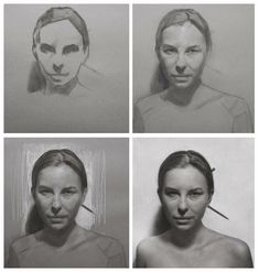 Charcoal WIP Charcoal Portraits by David Kassan
