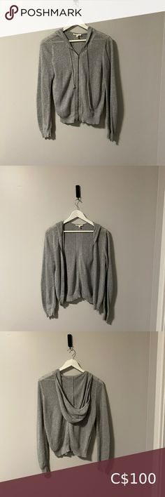 Eileen Fisher Grey Cotton Zip Cardigan Hoodie Eileen Fisher Grey 100% Organic Cotton Zip Cardigan Hoodie Size XS In Great Condition Eileen Fisher Sweaters Cardigans Teal Cardigan, Cocoon Cardigan, Shrug Cardigan, Cashmere Cardigan, Cashmere Sweaters, Lace Bandeau, Lace Bralette, Vs Bikini, Pink Stars