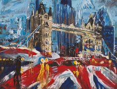 """sightseeing london"" 2015, 100 x 130 cm, acryl auf leinen Sightseeing London, Gallery, Painting, Atelier, Visual Arts, Linen Fabric, Idea Paint, Painting Art, Roof Rack"