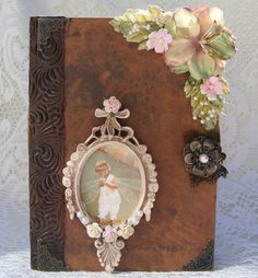 Premade scrapbook fairy mini album shabby by noturmommaspages, $59.99