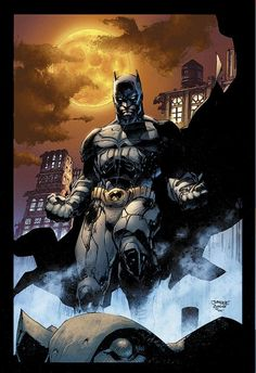 The Dark Knight :: by Jim Lee (Pencils), Scott Williams (Inks) and Alex Sinclair (Colors)