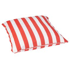 Striped Coral Corded Outdoor/ Indoor Large 28-inch Floor Pillow | Overstock.com Shopping - Big Discounts on Outdoor Cushions & Pillows