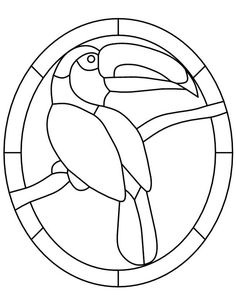 Toucan stain glass pattern