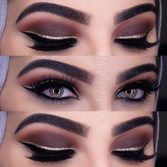 Trendy Ideas For Eye Makeup Brown Eyeliner Lashes Eyeliner Brown Eyes, Brown Eyeshadow, Eyeshadow Primer, Makeup For Brown Eyes, Pink Eye Makeup, Matte Makeup, Natural Eye Makeup, Dark Makeup, Makeup Art