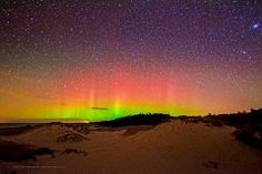 The Northern Lights as seen from the Ludington, Michigan area.