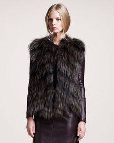 Arundel Vest by Belstaff at Neiman Marcus. Belstaff, you are killing me! Fur Fashion, I Love Fashion, Fashion Outfits, Womens Fashion, Belstaff, Cool Style, My Style, Classy And Fabulous, Neiman Marcus