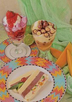 strawberry and marshmallow parfait