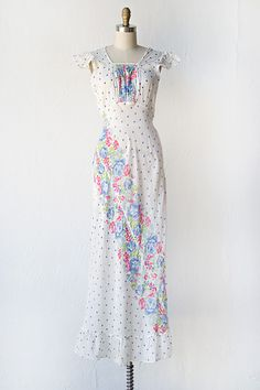 Yes, please. vintage 1930s sheer cotton floral summer dress                                                                                                                                                                                 More
