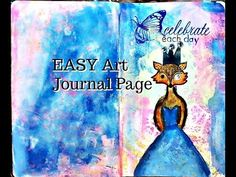 How to Make an Easy Art Journal Page