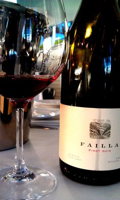 Failla 2009 Pinot Noir Hirsch-Vineyards (Sonoma Coast)...if you want to re-live fall, the nose on this wine will do it...white pepper, cranberries, autumn flavors...oh me oh my...I love this wine.