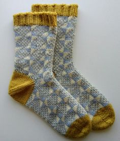 Fair isle socks by me. Jamieson and Smith Aran worsted yarn.