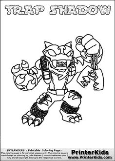 ShroomBoom Coloring Page From Skylanders Giants Pages