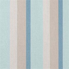 Classic stripes in blues, greens, off-white, and gray all on the softer side-this indoor/outdoor fabric will be a great addition to any decor. It is made by Sunbrella Fabrics, and is completely resistant to UV rays, water, soil, stains, mold and mildew. That makes it a worry free fabric suitable for drapes, pillows, cushions, and even upholstery. Great for the patio, marine interiors, or the favorite room in your home.v234PPFN