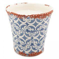 Granada Candle Citron Pot Large 15.5 x 16cm Blue