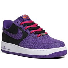 "Nike Air Force 1 LE ""Godzilla Pack"" - Black / Court Purple 