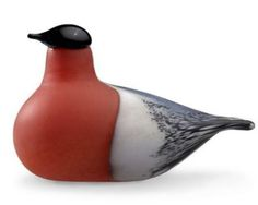 Found it at AllModern - iittala Birds by Toikka Bullfinch Figurine Modern Decorative Accents, Contemporary Decorative Objects, Corning Museum Of Glass, Glass Museum, Bullfinch, Shops, Glass Birds, Danish Design, Decoration