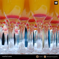 Drinks reception - easy splash of colour on arrival - theme it for your event