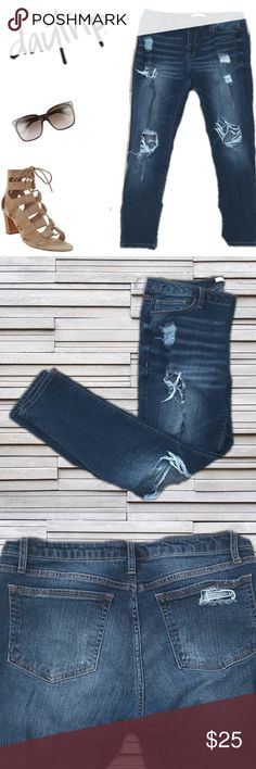 """Daytrip Lynx Ankle Skinny Jeans Sz. 31 These jeans from Daytrip are exactly what you need!  Destructed look. 36"""" waist, 10"""" rise and 28"""" inseam. Excellent smoke free condition. Daytrip Jeans Ankle & Cropped"""