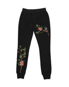 d83a93f929 Vine Embroidered Jogger - Black Lounge Pants