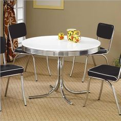 Coaster Retro Round Dining Kitchen Ta... for only $113.66