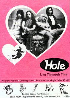 Hole: Live through this, the new album.