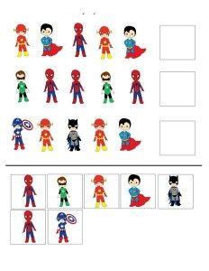 pattern superheroes worksheets