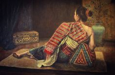 Lao Lady Painting - The Guardian by Sompaseuth Chounlamany Laos, Thailand Art, Thai Art, Stretched Canvas Prints, Artist Painting, Deco, The Guardian, Asian Art, Fine Art America