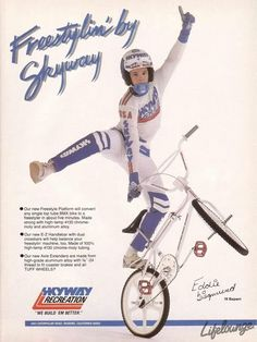 Only two bikes I wanted as badly as my Silver Streak - the upgrade Diamond Back Turbo and the Skyway TA. The TA was was my dream jumper / freestyler. Skyway Bmx, Velo Biking, Bmx Bandits, Bmx Cycles, Vintage Bmx Bikes, Bmx Racing, Bmx Freestyle, Bicycle Race, National Football League