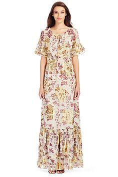 The DVF Jane Metallic Chiffon Maxi Dress is this season's definition of effortless elegance
