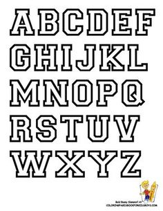 Chips typographie hajaja pinterest bullet journals bullet and free sports alphabet for signs banners gym decoration and kids bedroom decor too tell teachers they can make easy letter stencils spiritdancerdesigns Image collections