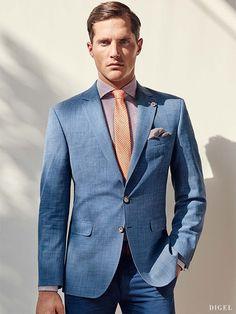 perfekter Sitz beim hellblauen Anzug von Digel #Digel #Herrenmode #Anzug #Business