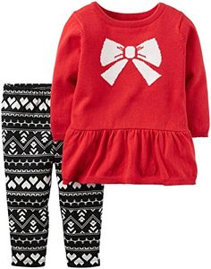 Carters Baby Girls 2 Pc Sets 121g901 Red 24M *** Click image for more details. (This is an affiliate link)