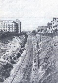 Antigua foto calle del ferrocarril MADRID