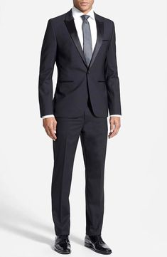 HUGO BOSS  895 NEW Mens 2402 Tuxedo Aylor Herys 2PC Suit 40 SHORT 34W (eBay  Link) bb059c2719e