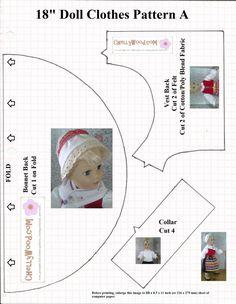 Résultat d'images pour Free Printable 18 Inch Doll Clothes Patterns Doll Shoe Patterns, Doll Patterns Free, Clothing Patterns, Free Pattern, American Doll Clothes, Girl Doll Clothes, Girl Dolls, Ag Dolls, Free Printable Sewing Patterns