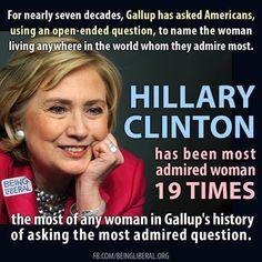 If you mean she was admired by 19 people, then I might buy that statement!