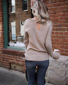 YUNY Men Slim Casual Cowl Neck Stretchable Thickening Knitwear Grey XL