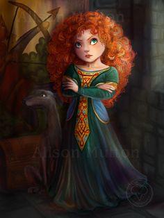 iPad: Merida by Alene on DeviantArt Disney Dream, Disney Love, Disney Magic, Brave Disney, Disney And Dreamworks, Disney Pixar, Brave Movie, Baby Disney Characters, Disney Princesses And Princes