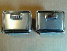 1960 60 CHEVROLET CHEVY 2 DOOR CORVAIR REAR SEAT PANEL ORIGINAL SET ASHTRAYS #CHEVY