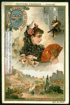 Grenade - Granada Province Spain  PRETTY c1898 Card