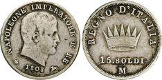 NumisBids: Numismatica Varesi s.a.s. Auction 65, Lot 736 : NAPOLEONE I, Imperatore (1804-1814) 15 Soldi 1808 Milano. Pag. 48...
