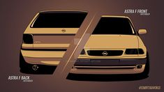 Opel Astra F Front and Back by erithdorPL.deviantart.com on @DeviantArt