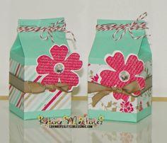 Stampin' Up Mini Milk Carton Treats!  Katina Martinez - wwww.lovinglifeslittleblessings.com