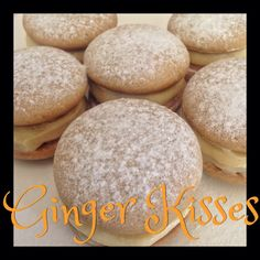 Ginger Kisses Thermomix Method Included - Mother Hubbard s Cupboard Chocolate Caramel Slice, Best Chocolate, Biscuit Cookies, Biscuit Recipe, Owl Cookies, Sandwich Cookies, Yummy Cookies, Cake Cookies, Kisses Recipe