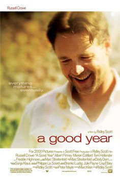 A Good Year , starring Russell Crowe, Abbie Cornish, Albert Finney, Marion Cotillard. A British investment broker inherits his uncle's chateau and vineyard in Provence, where he spent much of his childhood. He discovers a new laid-back lifestyle as he tries to renovate the estate to be sold. #Comedy #Drama #Romance