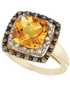 Le Vian Citrine (3-5/8 ct. t.w.), White Sapphire (1/6 ct. t.w.) and Diamond (1/5 ct. t.w.) Ring in 14k Gold